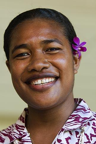 image 5-610-9384 Fiji, Fijian woman, portrait