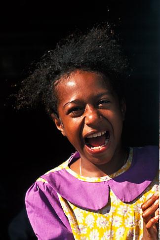 image 9-530-42 Fiji, Young girl, Nausori Highlands