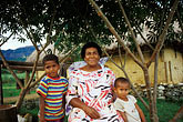 pacific ocean stock photography | Fiji, Mother and children, image id 9-530-47