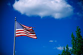 horizontal stock photography | Flags, American flag and sky, image id 2-420-69