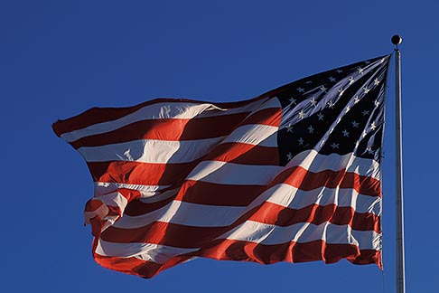 image 3-277-26 Flags, American flag in wind