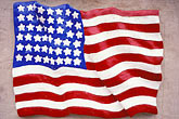 painting stock photography | Flags, Early American flag on wall, image id 9-608-1