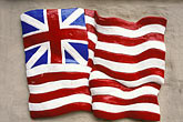 paint stock photography | Flags, Early American flag on wall, image id 9-608-8