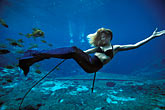 one person stock photography | Florida, Weeki Wachee Springs, Weeki Wachee Springs, Mermaid show, image id 2-466-7