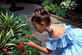 young girl stock photography | Florida, Winter Haven, Cypress Gardens, Butterfly Garden, image id 2-482-42