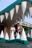 open mouth stock photography | Florida, Orlando, Gatorland, entrance, main building, image id 2-500-87