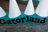signs stock photography | Florida, Orlando, Gatorland, entrance, main building, detail, image id 2-501-74