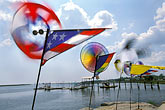 seashore stock photography | Florida, Gulf Coast, Toy windmills, image id 2-531-25
