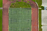florida stock photography | Florida, Miami, Athletic track and basketball courts, Aerial view, image id 7-672-6784