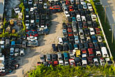 florida stock photography | Florida, Miami, Auto junkyard, Aerial view, image id 7-672-6823
