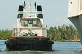 florida stock photography | Florida, Port Everglades, Tug with container ship, image id 7-673-2195