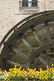 image 6-450-1042 France, Normandy, Bayeux, Waterwheel