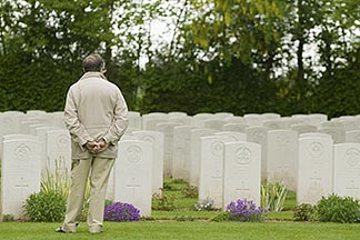 6-450-1075  stock photo of France, Normandy, Bayeux, Bayeux British War Cemetery and Memorial