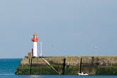 harbor with lighthouse stock photography | France, Normandy, St. Vaast La Hougue, Harbor with lighthouse, image id 6-450-1099