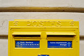 yellow stock photography | France , Letterbox, image id 6-450-110
