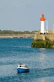 eu stock photography | France, Normandy, St. Vaast La Hougue, Harbor with lighthouse, image id 6-450-1124