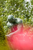 garden stock photography | France, ROdin thinker, image id 6-450-1230