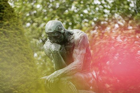 image 6-450-1234 France, Paris, Rodin Museum, The Thinker