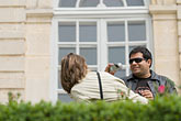 horizontal stock photography | France, Paris, Rodin Museum, Couple taking photos, image id 6-450-1270