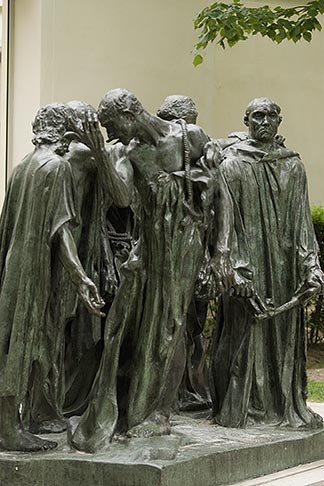 image 6-450-1305 France, Paris, Rodin Museum, The Burghers of Calais