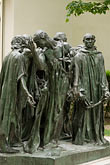 ville de paris stock photography | France, Paris, Rodin Museum, The Burghers of Calais, image id 6-450-1305