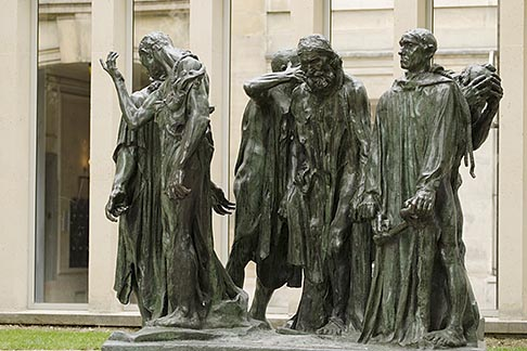 image 6-450-1307 France, Paris, Rodin Museum, The Burghers of Calais