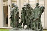 statue stock photography | France, Paris, Rodin Museum, The Burghers of Calais, image id 6-450-1307