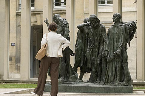 image 6-450-1308 France, Paris, Rodin Museum, The Burghers of Calais