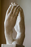 hand on chin stock photography | France, Paris, Rodin Museum, The Cathedral, image id 6-450-1317
