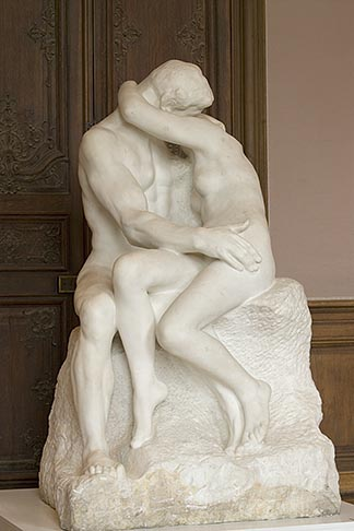 image 6-450-1320 France, Paris, Rodin Museum, The Kiss