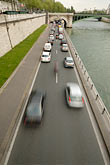 traffic stock photography | France, Paris, Traffic along the RIver Seine, image id 6-450-19