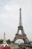 eiffel tower and model stock photography | France, Paris, Eiffel Tower and model, image id 6-450-411