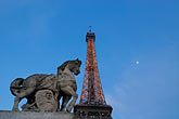 dark stock photography | France, Paris, Eiffel Tower and statue of horse, image id 6-450-435