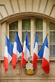 facade stock photography | France, Paris, French flags, image id 6-450-555