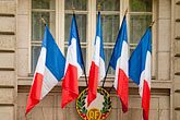 facade stock photography | France, Paris, French flags, image id 6-450-558
