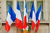 ville de paris stock photography | France, Paris, French flags, image id 6-450-560