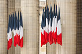 old stock photography | France, Paris, Pantheon, French flags, image id 6-450-5744