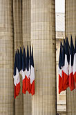 old stock photography | France, Paris, Pantheon, French flags, image id 6-450-5745