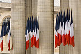 old stock photography | France, Paris, Pantheon, French flags, image id 6-450-5747
