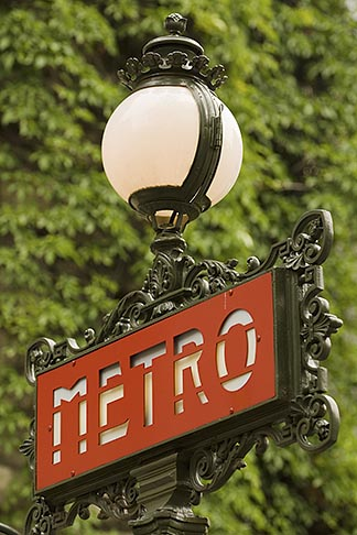 image 6-450-5757 France, Paris, Metro sign
