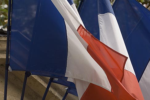 image 6-450-5865 France, Paris, French flags