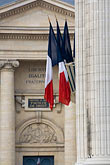 vertical stock photography | France, Paris, Pantheon, French flags, image id 6-450-5874