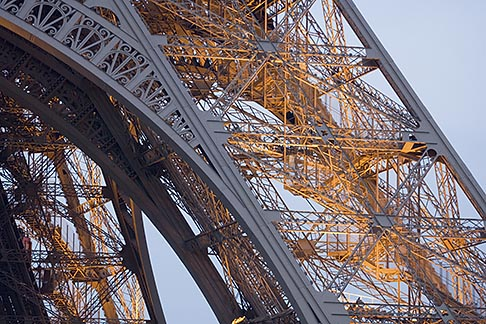 image 6-450-5980 France, Paris, Eiffel Tower detail