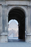 three sided stock photography | France, Paris, Louvre, Pyramide, image id 6-450-602