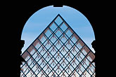 geometry stock photography | France, Paris, Musee du Louvre, Pyramide, night, image id 6-450-603