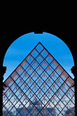 geometry stock photography | France, Paris, Musee du Louvre, Pyramide, night, image id 6-450-610