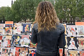 person stock photography | France, Paris, Souvenir postscards, Left Bank, image id 6-450-6134