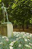 flower stock photography | France, Paris, Jardins des Luxembourg, Luxembourg Gardens, Statue of Pan, image id 6-450-6249