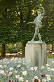 flower stock photography | France, Paris, Jardins des Luxembourg, Luxembourg Gardens, Statue of Pan, image id 6-450-6252