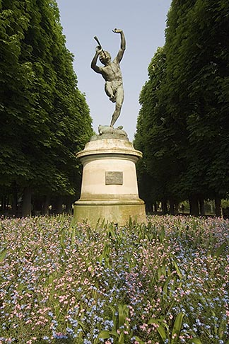 image 6-450-6258 France, Paris, Jardins des Luxembourg, Luxembourg Gardens, Statue of Pan